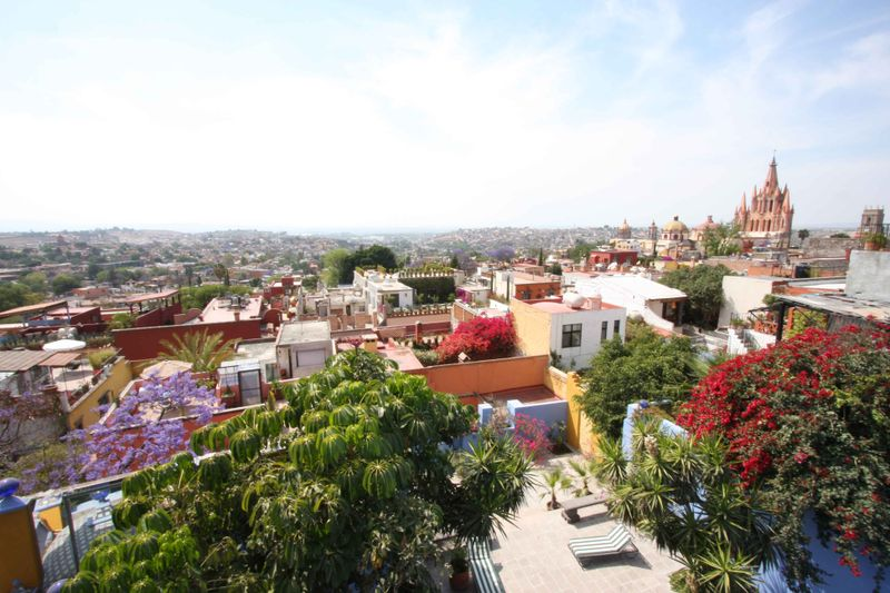 View of San Miguel from a guest's hacienda
