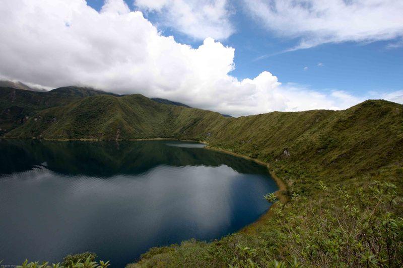 A crater lake in Ecuadorian National Park