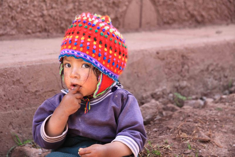 A little girl in Ccaccaccollo