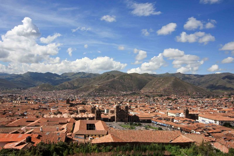 View from above Cusco