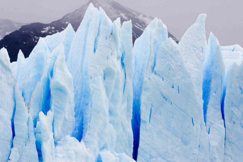 Glacier ice and its shades of blue