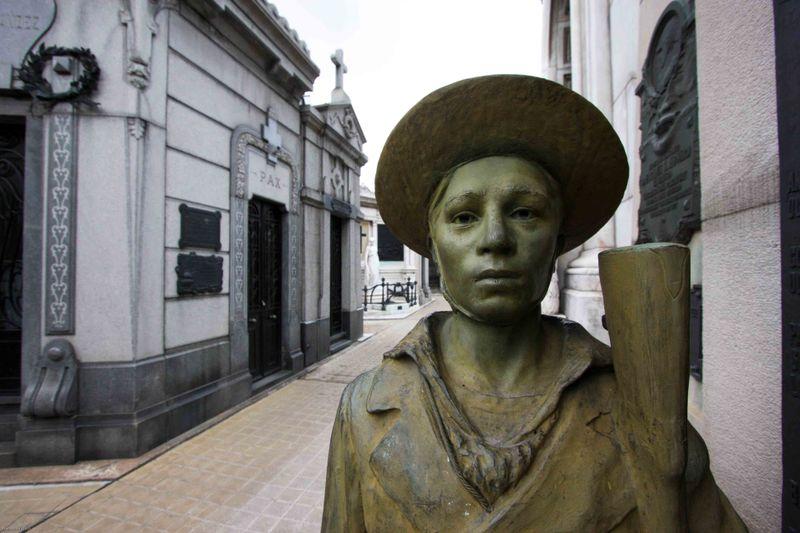 iron soldier at recoleta cemetery