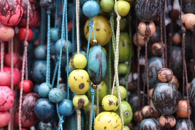 Handmade beads in market