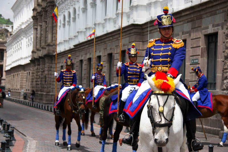 Decorated guards. Quito, Ecuador