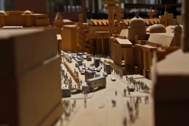 Barcelona, Spain: Model close up, Richard Rogers