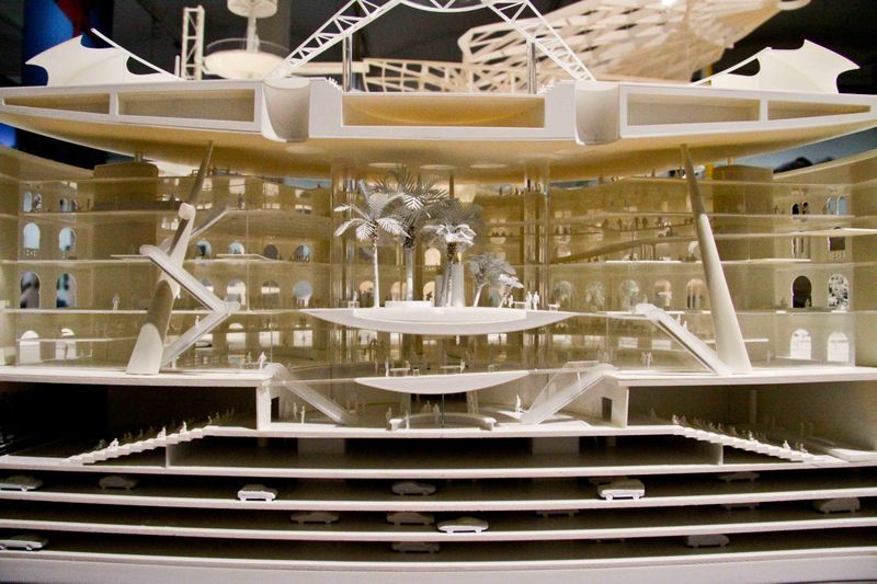 Barcelona, Spain: Las Arenas interior view of model