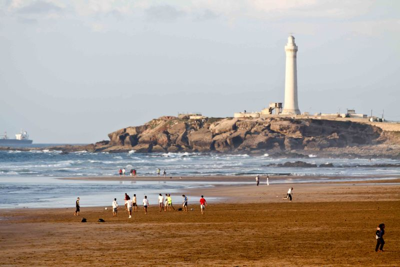 Casablanca beach football