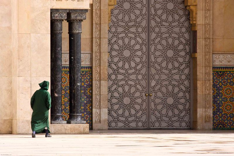 Hassan II Mosque - massive doors
