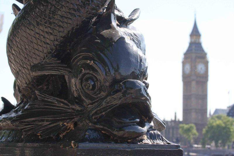 fish lampost and Big Ben