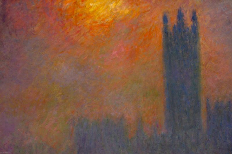 close-up of Monet's Le Parlement