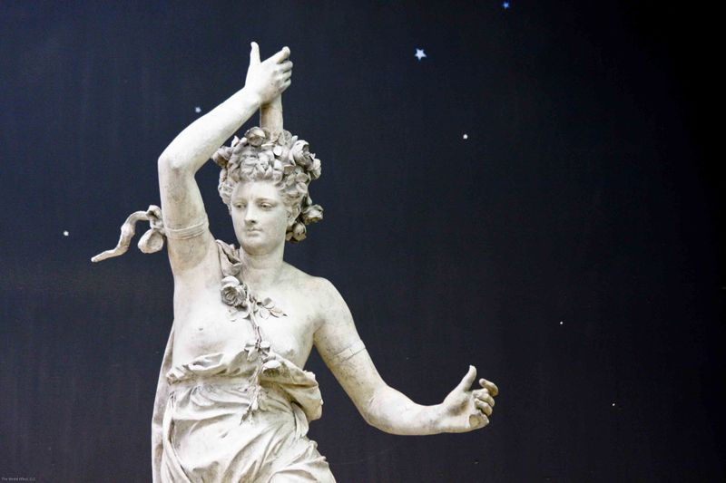 Sculpture with star backdrop. d'Orsay museum, Paris
