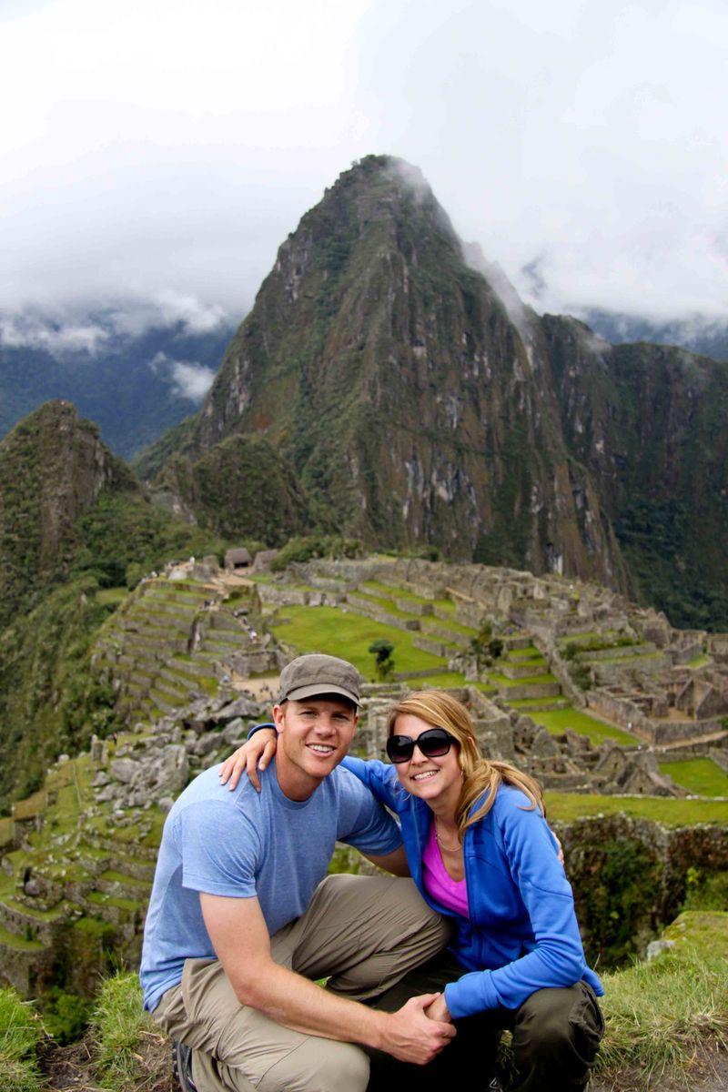 Beau and Meggan at Machu Picchu