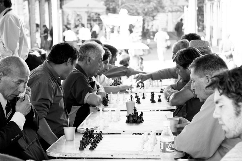Chess in Santiago's Plaza de Armas