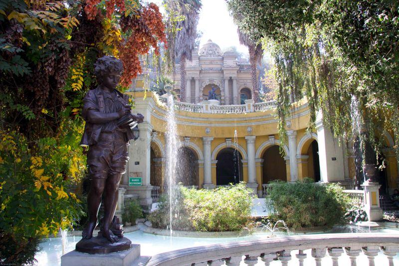 Santa Lucia Hill park in Santiago