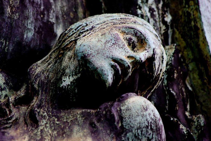 iron statue at recoleta cemetery