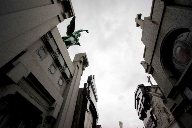 watched from above at recoleta cemetery