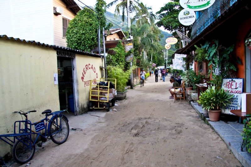 Ilha Grande - one of the few main streets