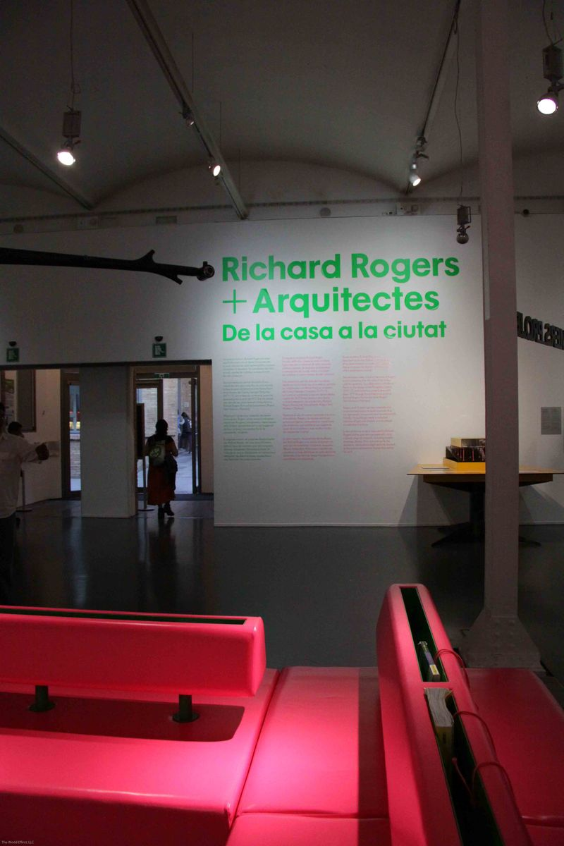 Barcelona, Spain: Richard Rogers' exhibit