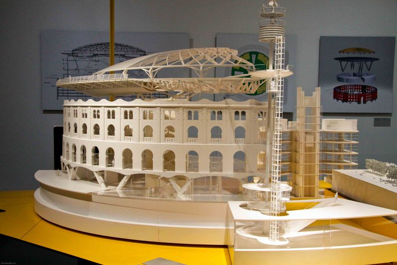 Barcelona, Spain: Las Arenas model