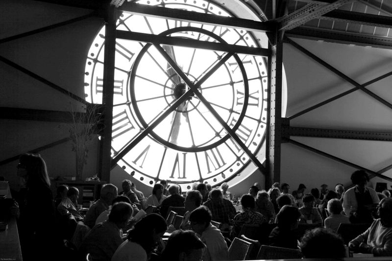 The restaurant behind the clock face. d'Orsay museum, Paris