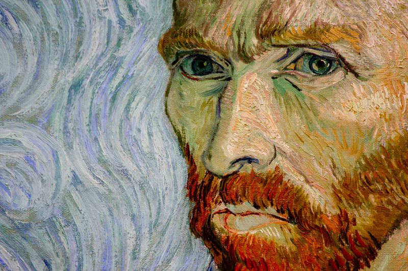 close-up Van Gogh self portrait