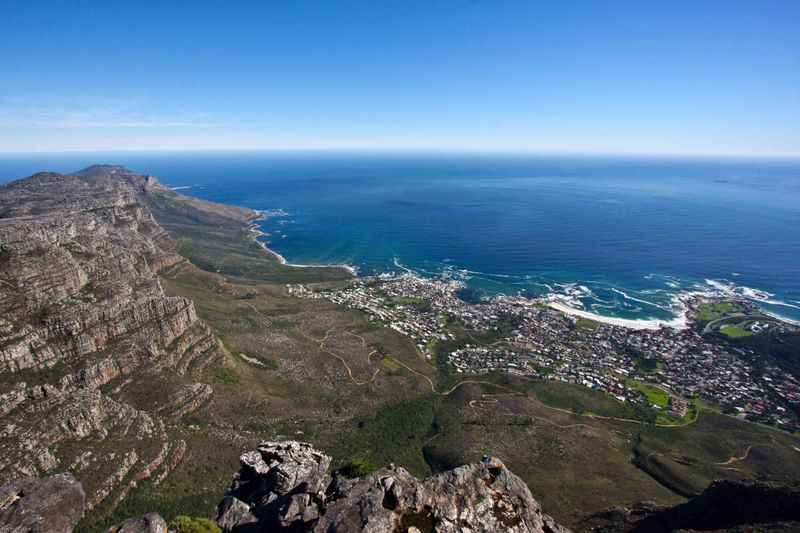 Cape Town below Table Mountain