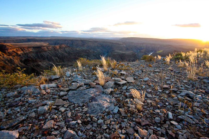 The rim of Fish River Canyon, Namibia