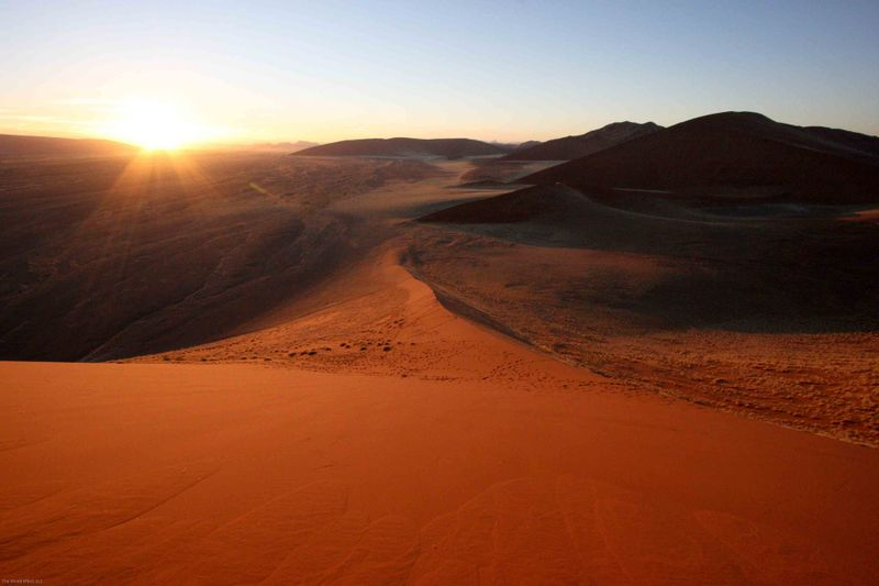 View from Dune 45. Namibia