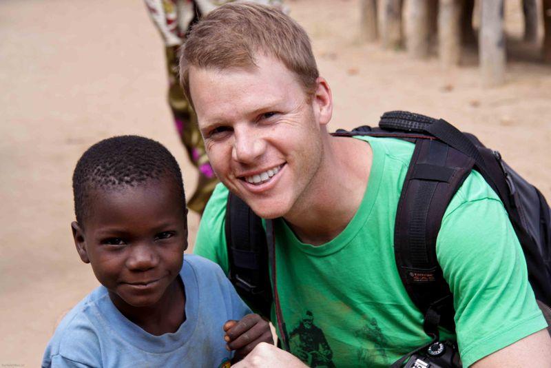 Kande, Malawi - Beau with a local kid