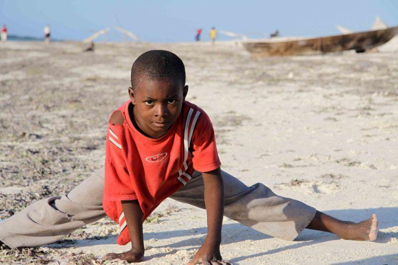 Nungwi, Zanzibar - kung-fu moves from boy
