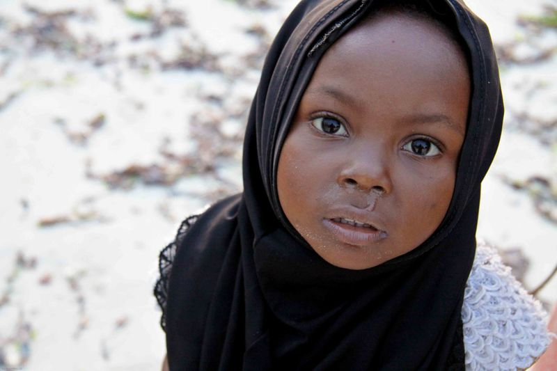 Nungwi, Zanzibar - little girl on the beach