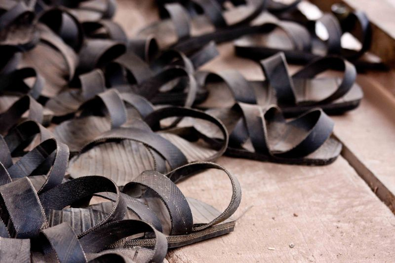 Arusha, Tanzania - tire sandals