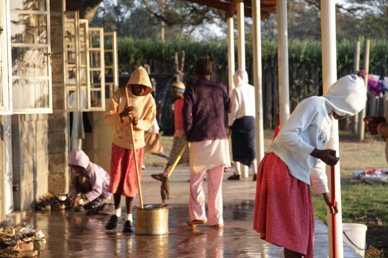 East African Mission Orphanage - Morning Chores