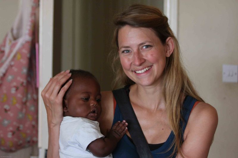 East African Mission Orphanage - Meggan with baby Jared