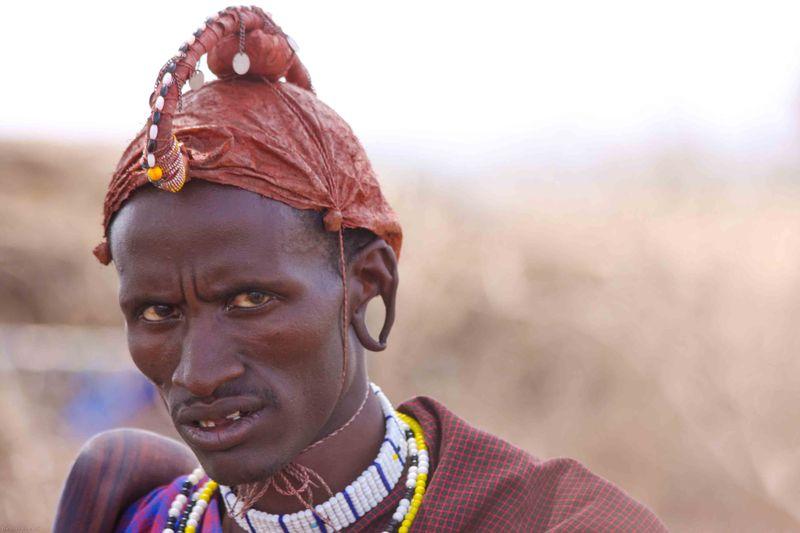 Masai man in Tanzania