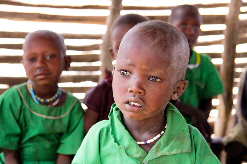 Masai child in the classroom