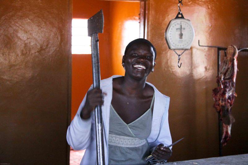 Katimo Mulilo, Botswana - happy butcher