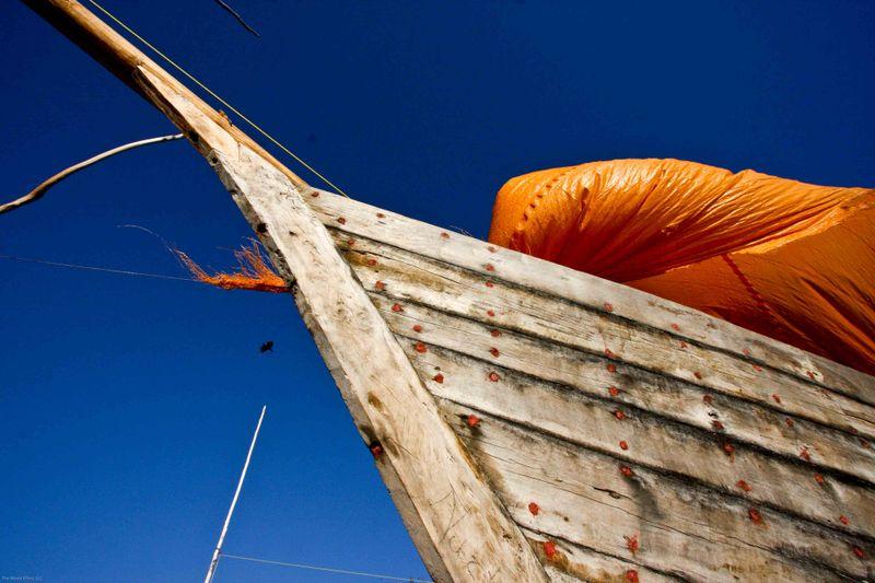 Nungwi, Zanzibar - fishing boat close up