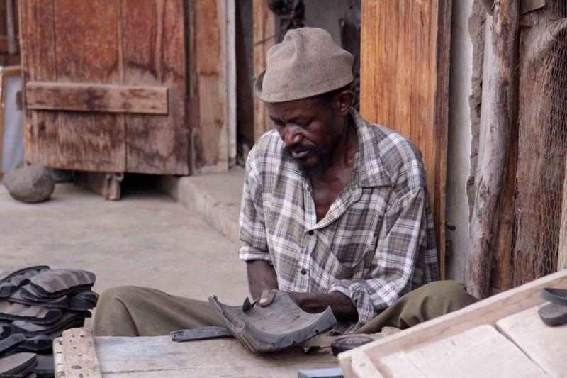 Arusha, Tanzania - tire sandal maker