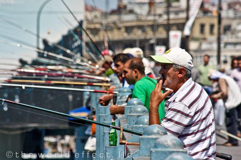 Fishermen. Istanbul, Turkey