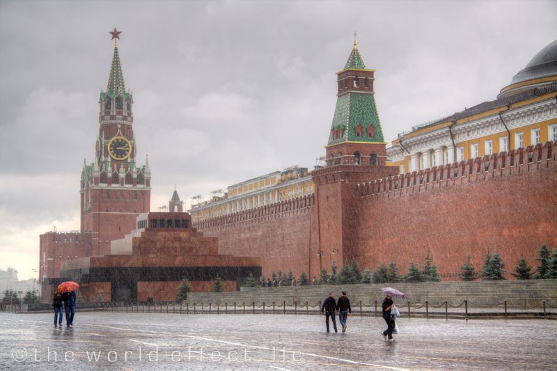 Moscow, Russia - Red Square after a rain storm