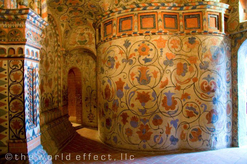 Moscow, Russia - Fresco in Saint Basil's