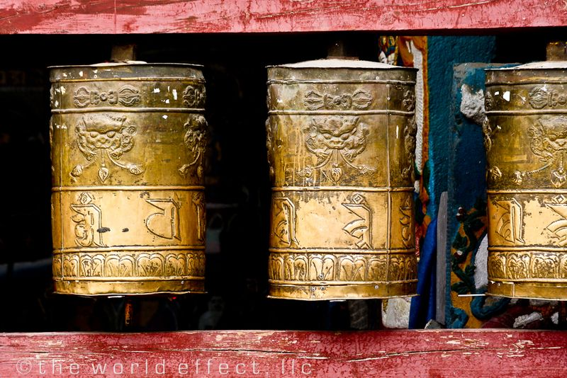 Prayer wheels. Ulaanbaatar, Mongolia