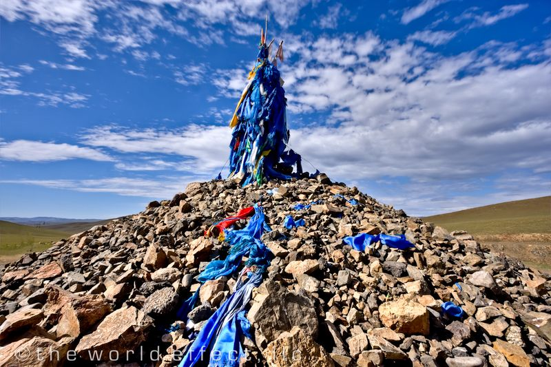 Buddhist Prayer Flags. Terelj National Park, Mongolia