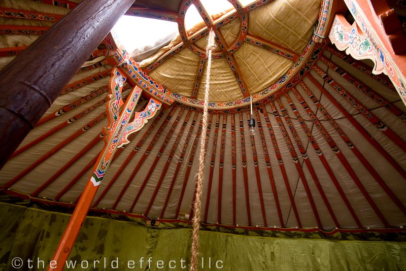 Mongolia, Ger Roof