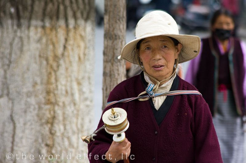 Tibetan woman. Lhasa, Tibet