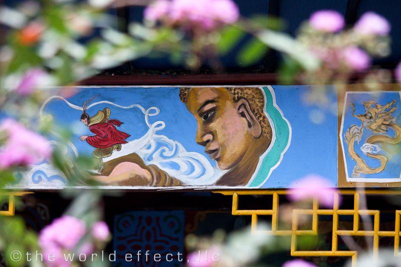 Buddhist Painting. Yangtzee RIver, China