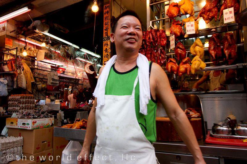 Market Butcher. Hong Kong