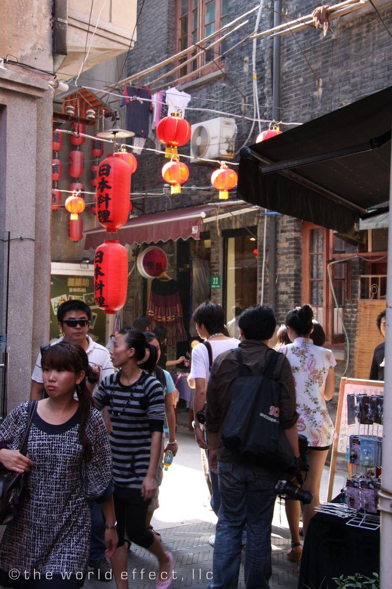 Shanghai, China - Taikang Shopping area