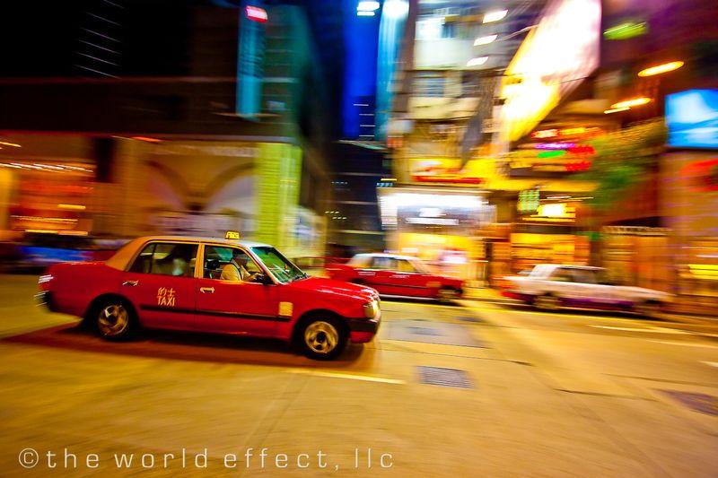 Night Cab. Hong Kong